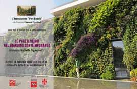 Le pareti verticali nel giardino contemporaneo